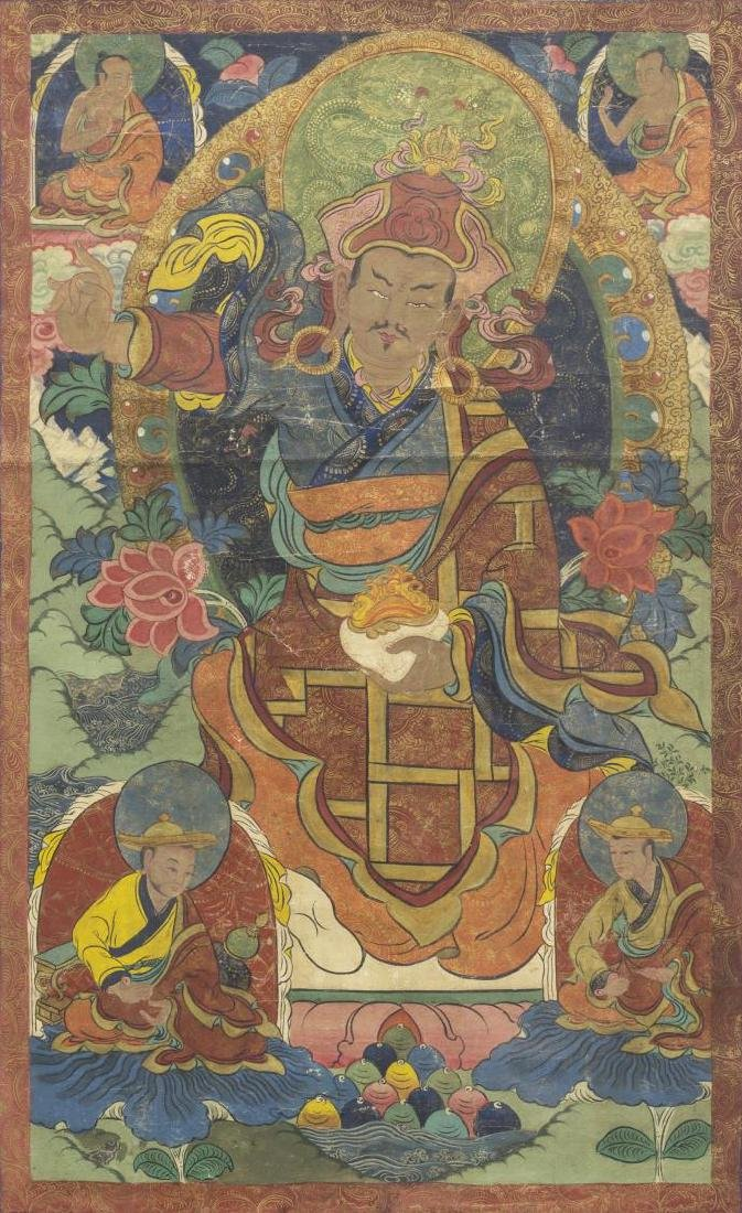 TIBETAN BUDDHIST THANGKA WALL HANGING PAINTING