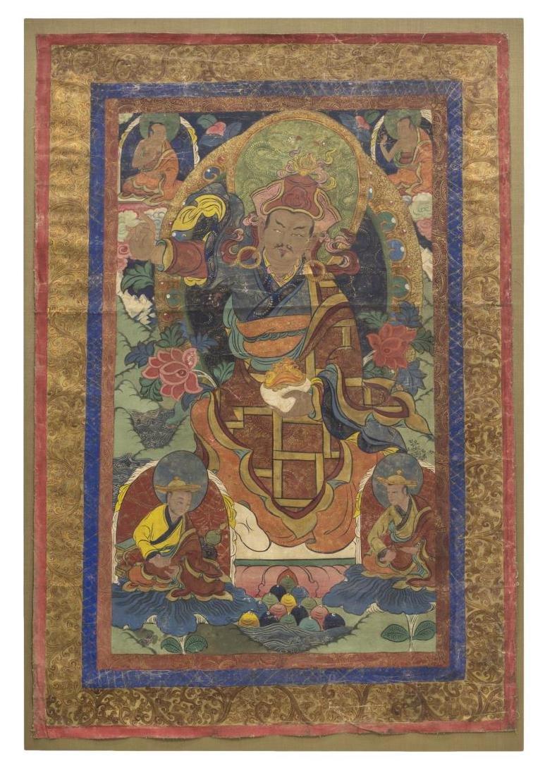 TIBETAN BUDDHIST THANGKA WALL HANGING PAINTING - 2