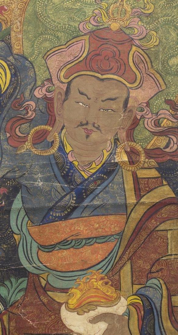 TIBETAN BUDDHIST THANGKA WALL HANGING PAINTING - 3