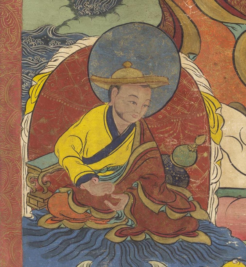 TIBETAN BUDDHIST THANGKA WALL HANGING PAINTING - 4
