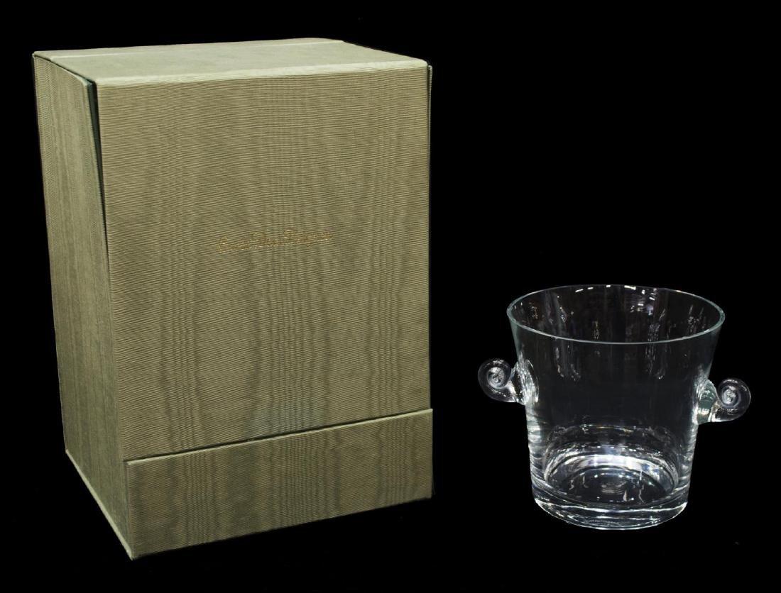 TIFFANY & CO GLASS CHAMPAGNE BUCKET & ORIGINAL BOX