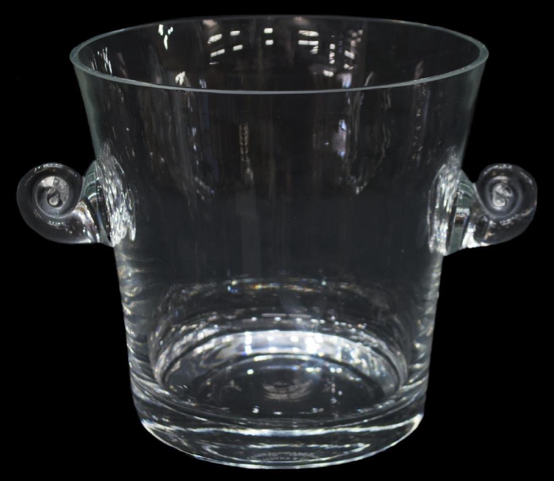 TIFFANY & CO GLASS CHAMPAGNE BUCKET & ORIGINAL BOX - 2