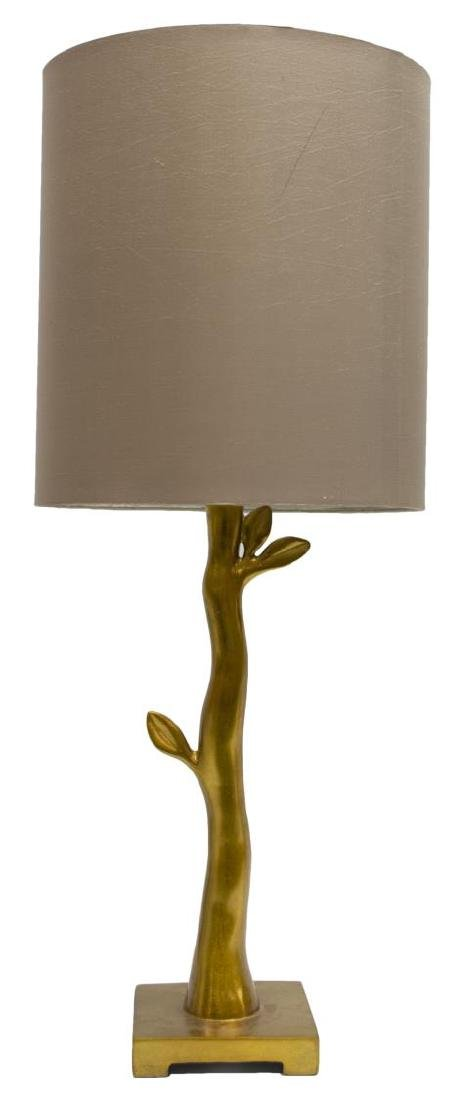 (2) CORAL & GILT BRANCH FORM CONTEMPORARY LAMPS - 2