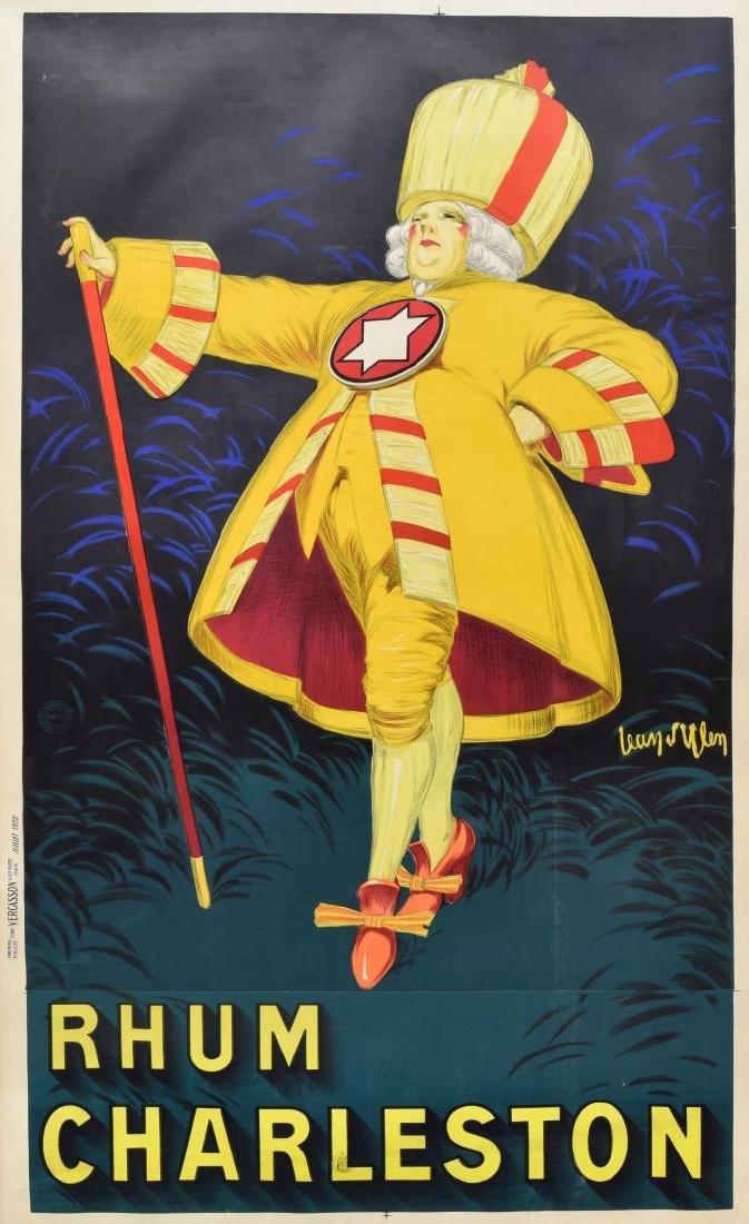 """JENA D'YLENN 1922 RHUM CHARLESTON POSTER 66""""H - 2"""