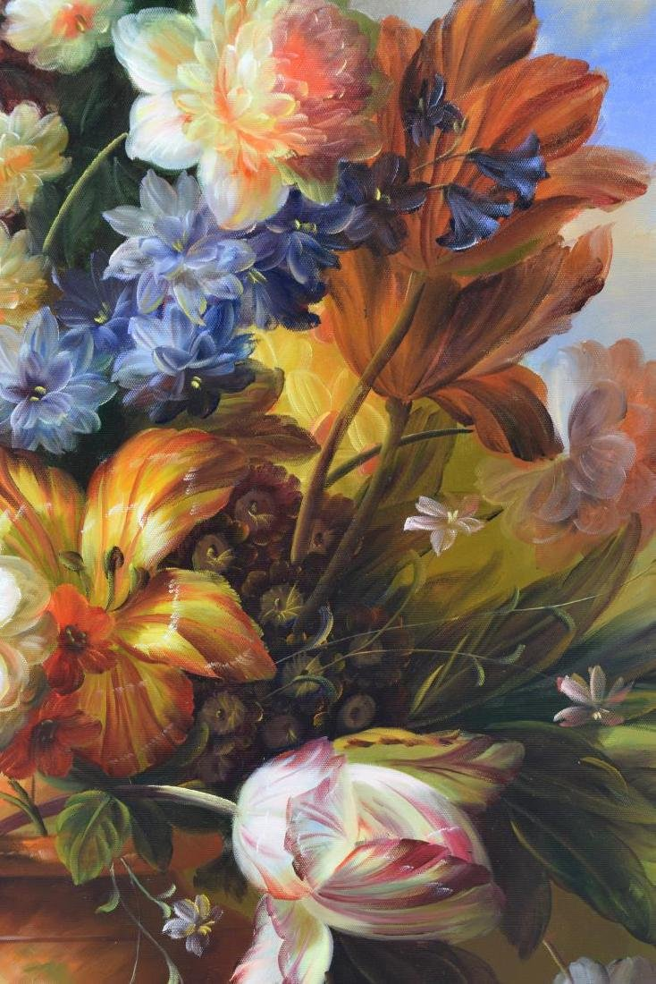 FRAMED DECORATIVE FLORAL STILL LIFE OIL PAINTING - 3