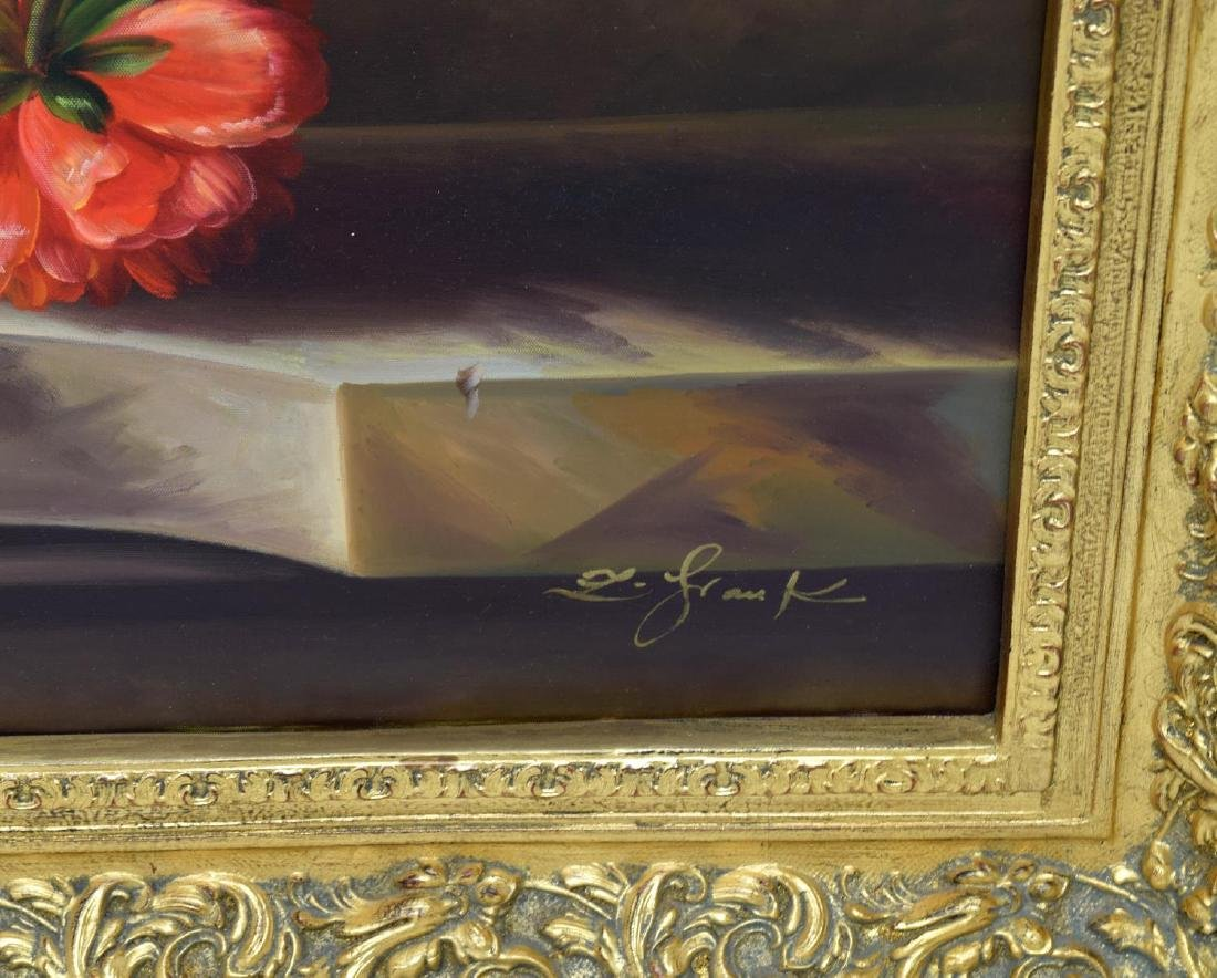 FRAMED DECORATIVE FLORAL STILL LIFE OIL PAINTING - 4