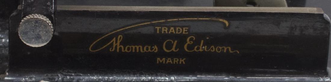 EDISON STANDARD OAK CASE PHONOGRAPH & HORN - 4