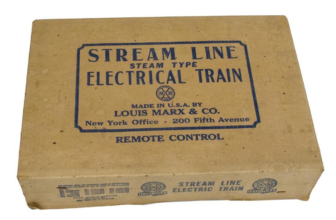 VINTAGE LOUIS MARX STREAM LINE ELECTRIC TRAIN SET - 4