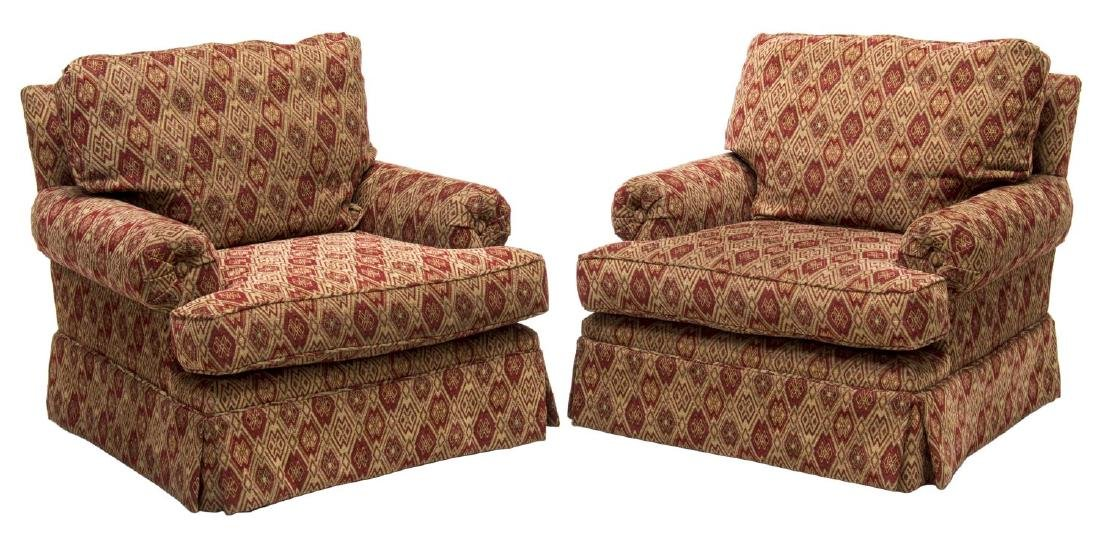 (2) UPHOLSTERED ARMCHAIRS BY GINA B. LOS ANGELES