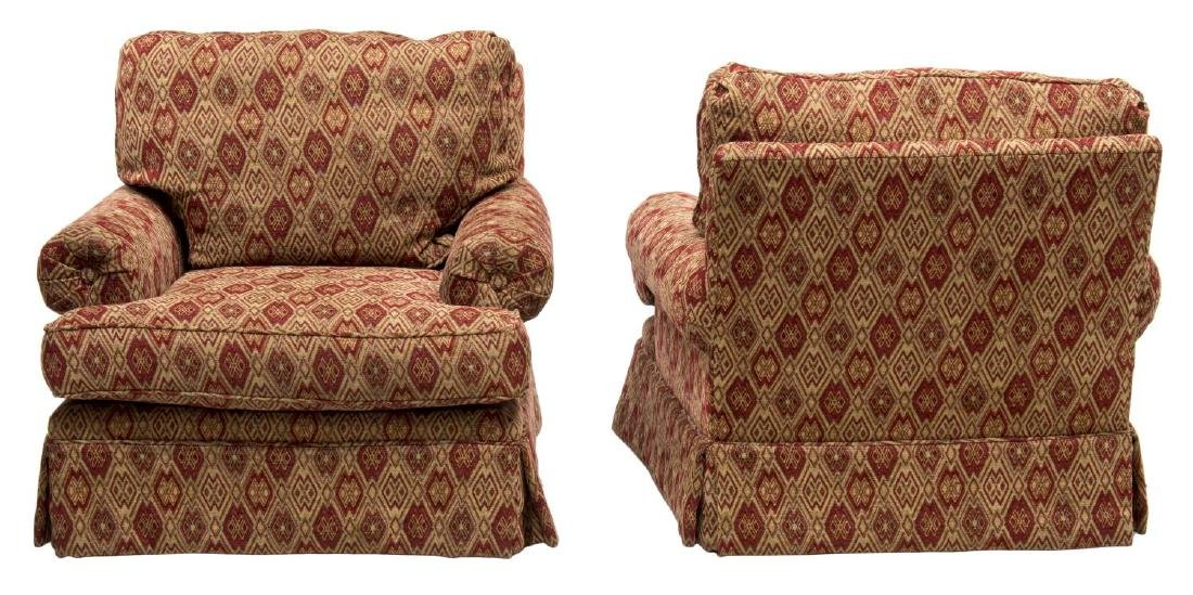 (2) UPHOLSTERED ARMCHAIRS BY GINA B. LOS ANGELES - 2