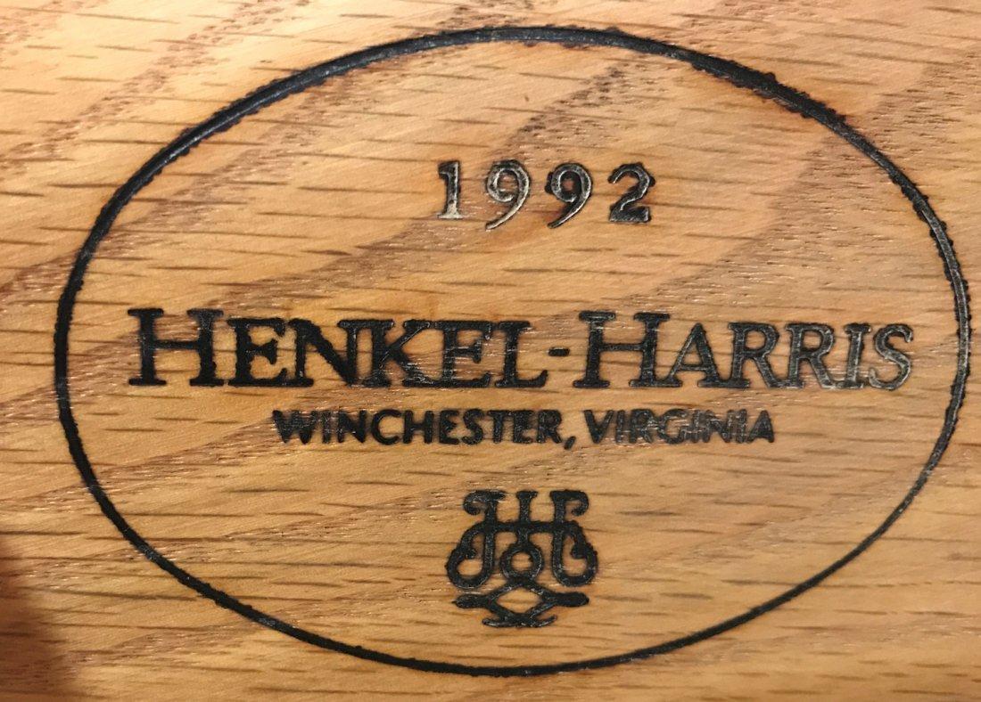 HENKEL-HARRIS GEORGIAN STYLE DEMILUNE CABINET - 4