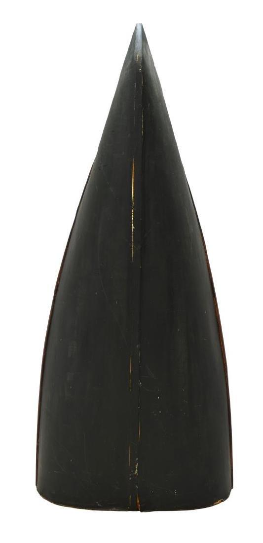 CANOE FORM FIVE-SHELF BOOKCASE, 20TH CENTURY - 3