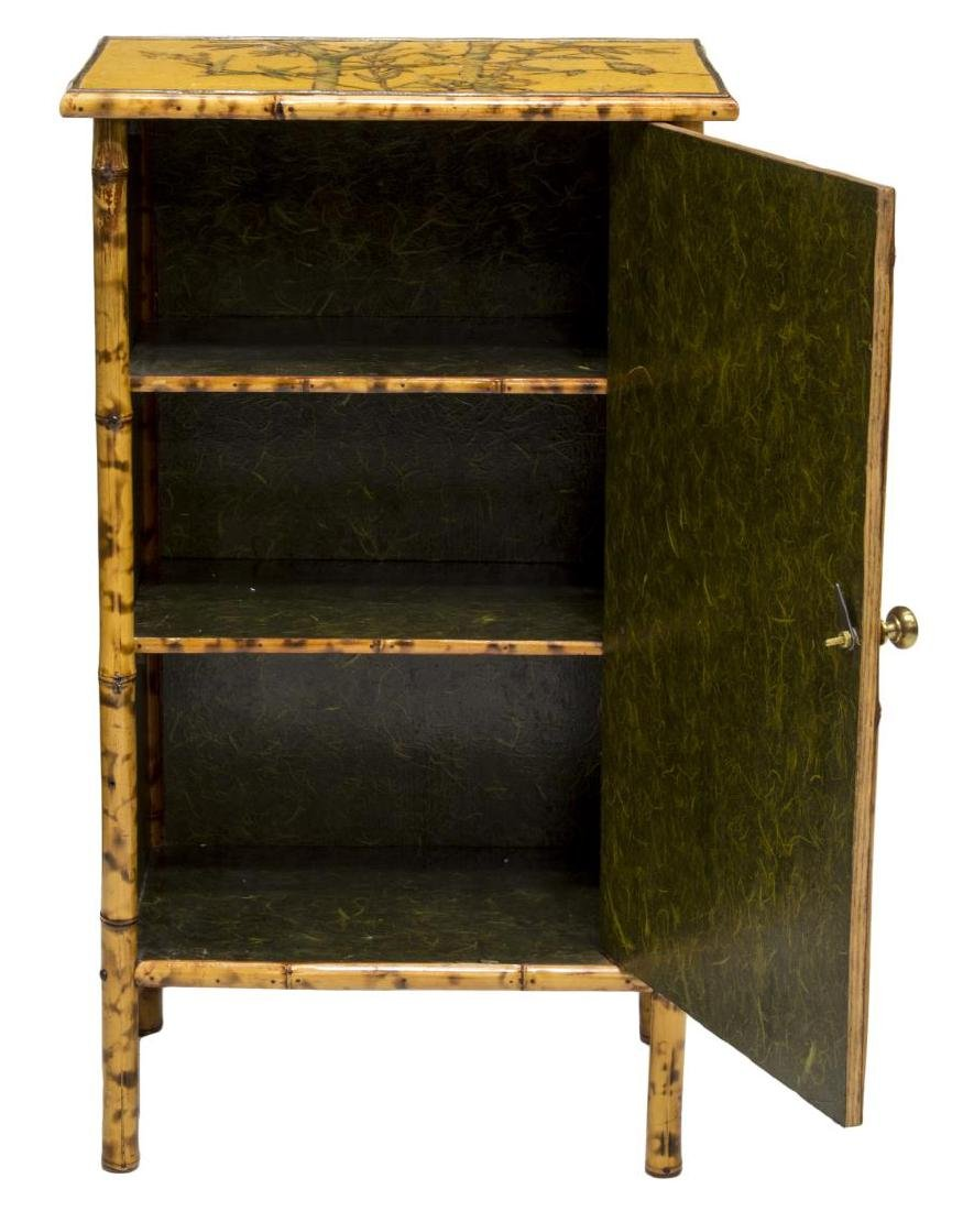 CHINESE BAMBOO FLORAL & BIRDS DECORATED CABINET - 3
