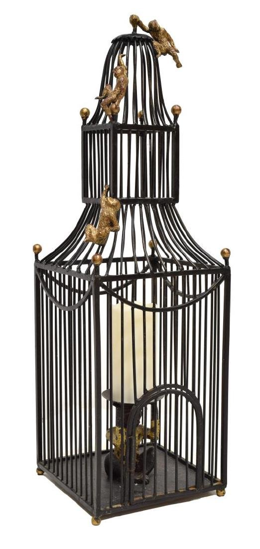 MAITLAND SMITH STYLE BIRD CAGE FORM CANDLE HOLDER