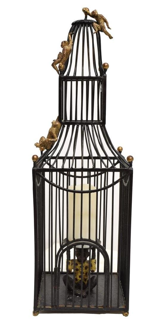 MAITLAND SMITH STYLE BIRD CAGE FORM CANDLE HOLDER - 2