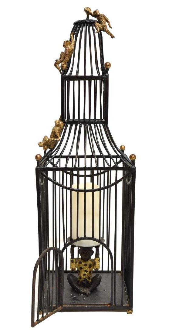 MAITLAND SMITH STYLE BIRD CAGE FORM CANDLE HOLDER - 3