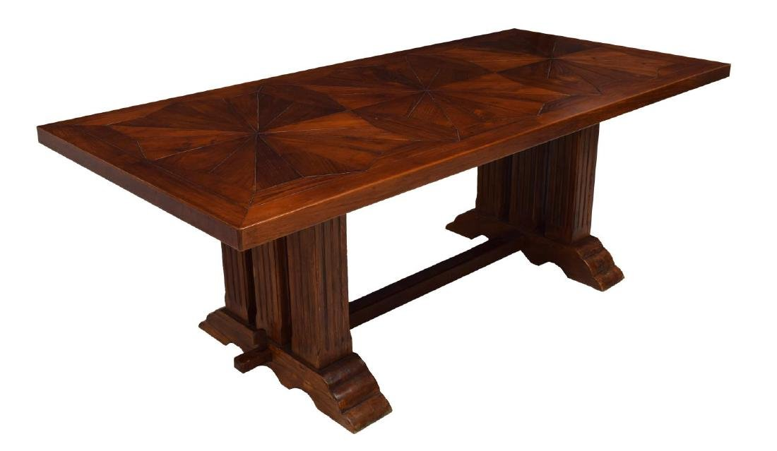 CARVED TEAKWOOD DINING TABLE
