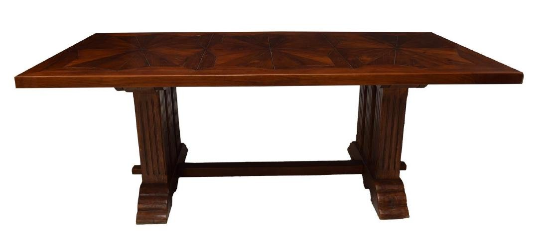 CARVED TEAKWOOD DINING TABLE - 2