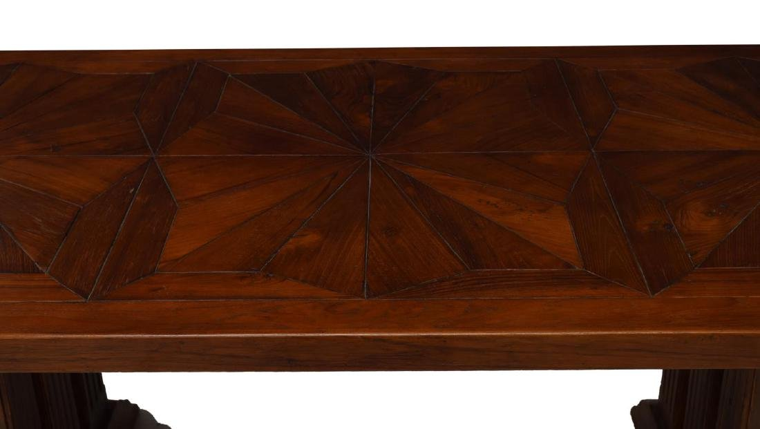CARVED TEAKWOOD DINING TABLE - 3