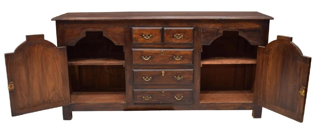 CARVED MAHOGANY ECCLESIASTICAL STYLE SIDEBOARD - 3