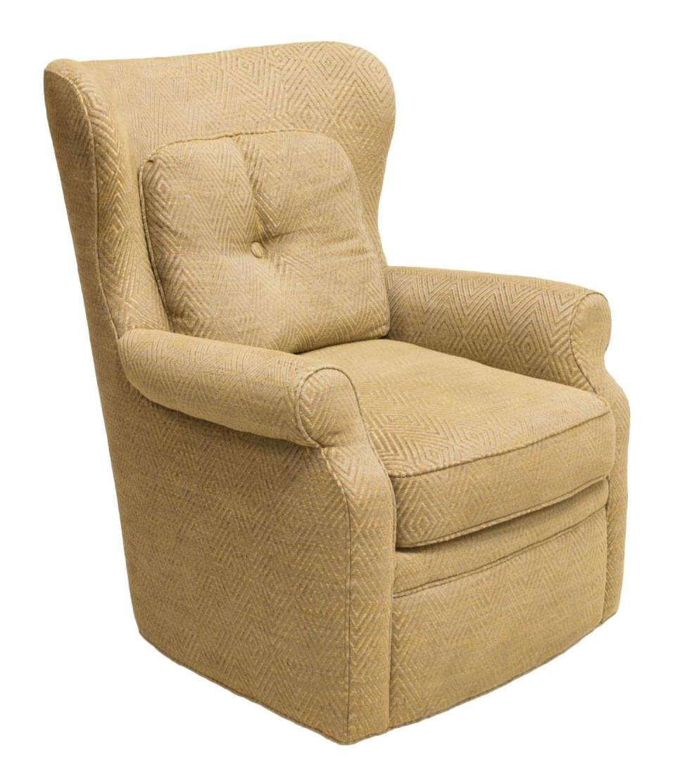 UPHOLSTERED SWIVEL ROCKING CHAIR, JESSICA CHARLES