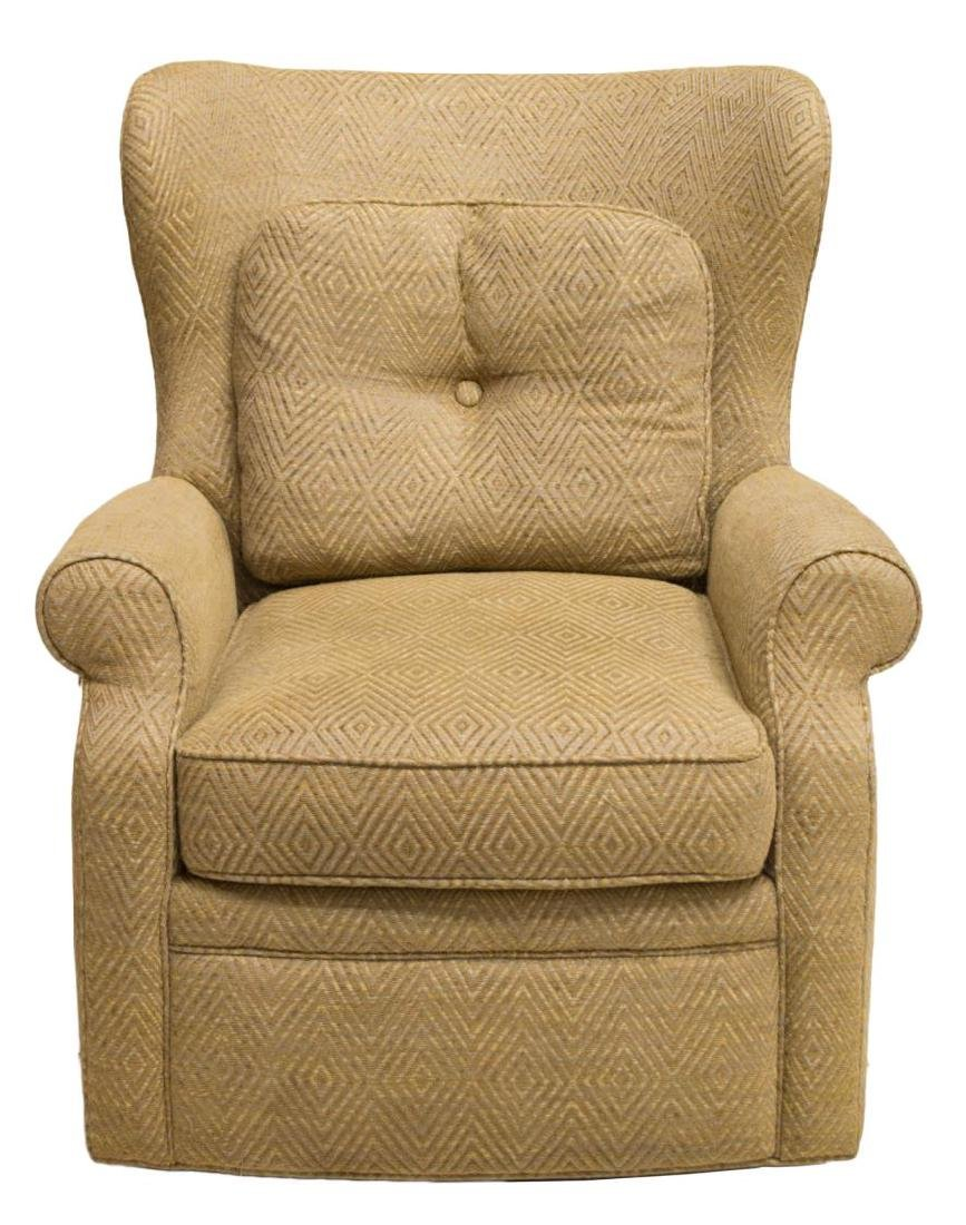 UPHOLSTERED SWIVEL ROCKING CHAIR, JESSICA CHARLES - 2