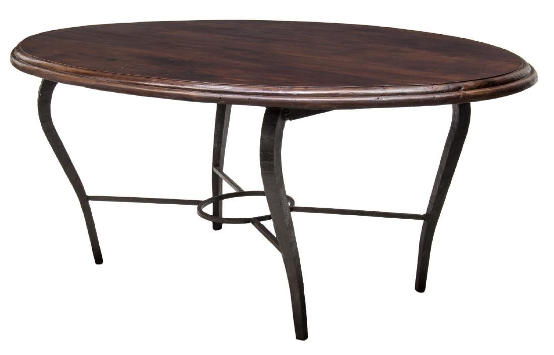 TEAK & HAND FORGED IRON DINING TABLE, INDIA