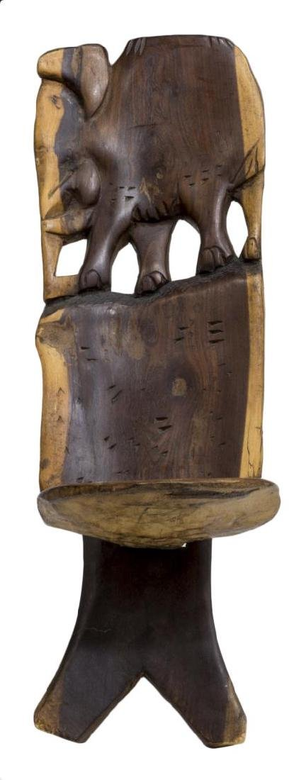 (2) AFRICAN CHAIR AND HEADREST - 2