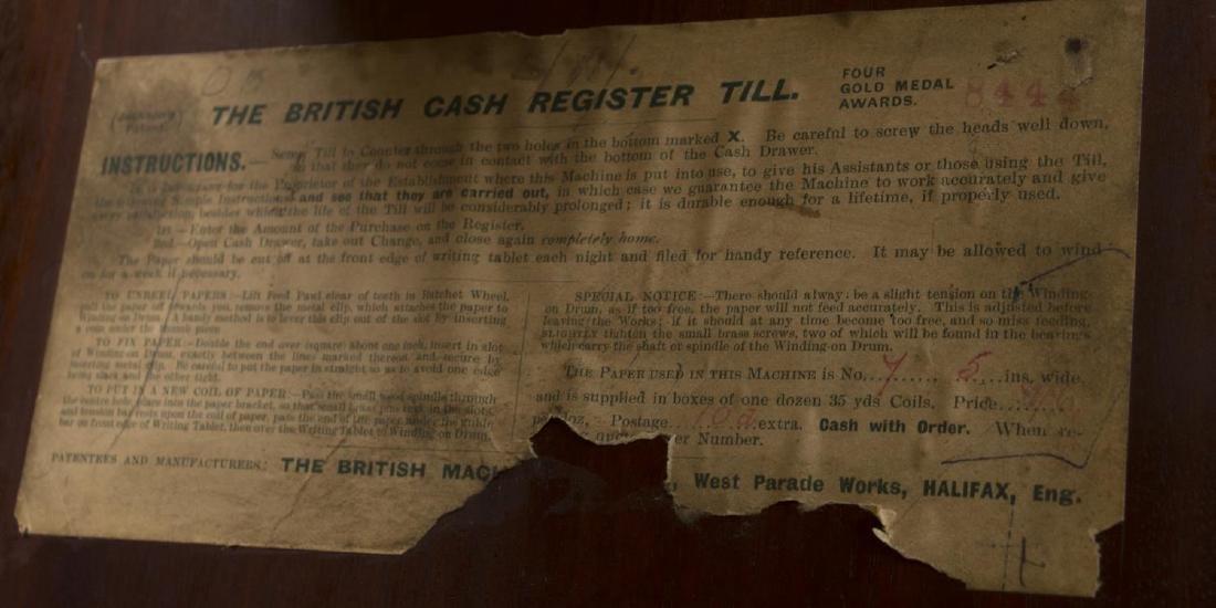 BRITISH MACHINE COMPANY LIMITED WOOD CASH REGISTER - 8