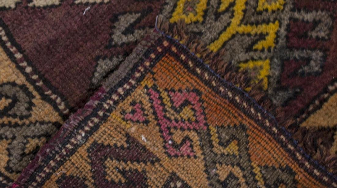 (3) SMALL HAND TIED WOOL RUGS - 2