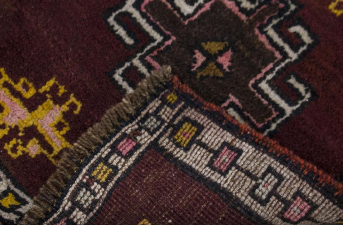 (3) SMALL HAND TIED WOOL RUGS - 4