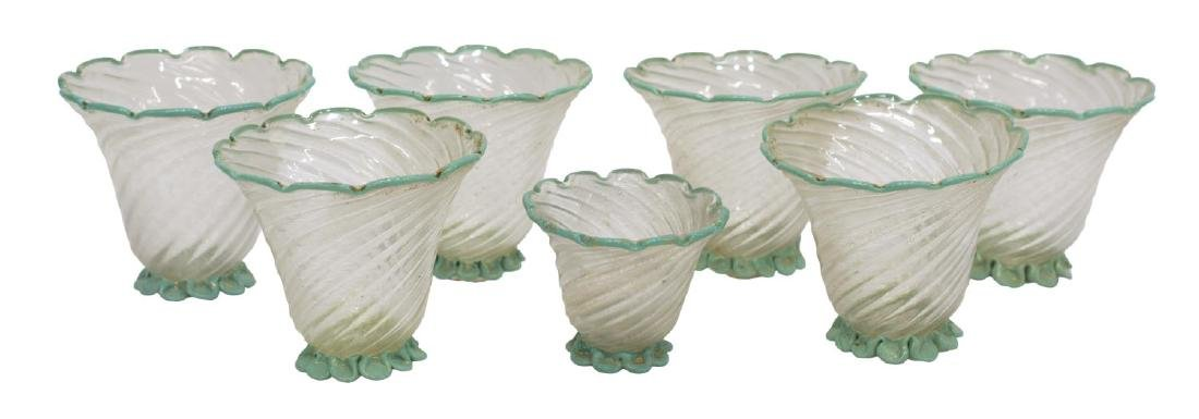 (7) VENETIAN ART GLASS LAMP SHADES - 2