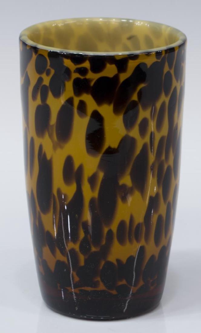 (25) AMICI BLOWN GLASS LEOPARD GOBLETS & PITCHER - 8