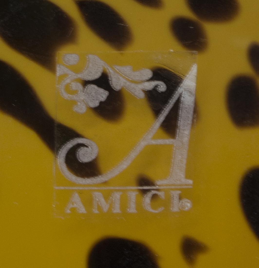 (25) AMICI BLOWN GLASS LEOPARD GOBLETS & PITCHER - 9
