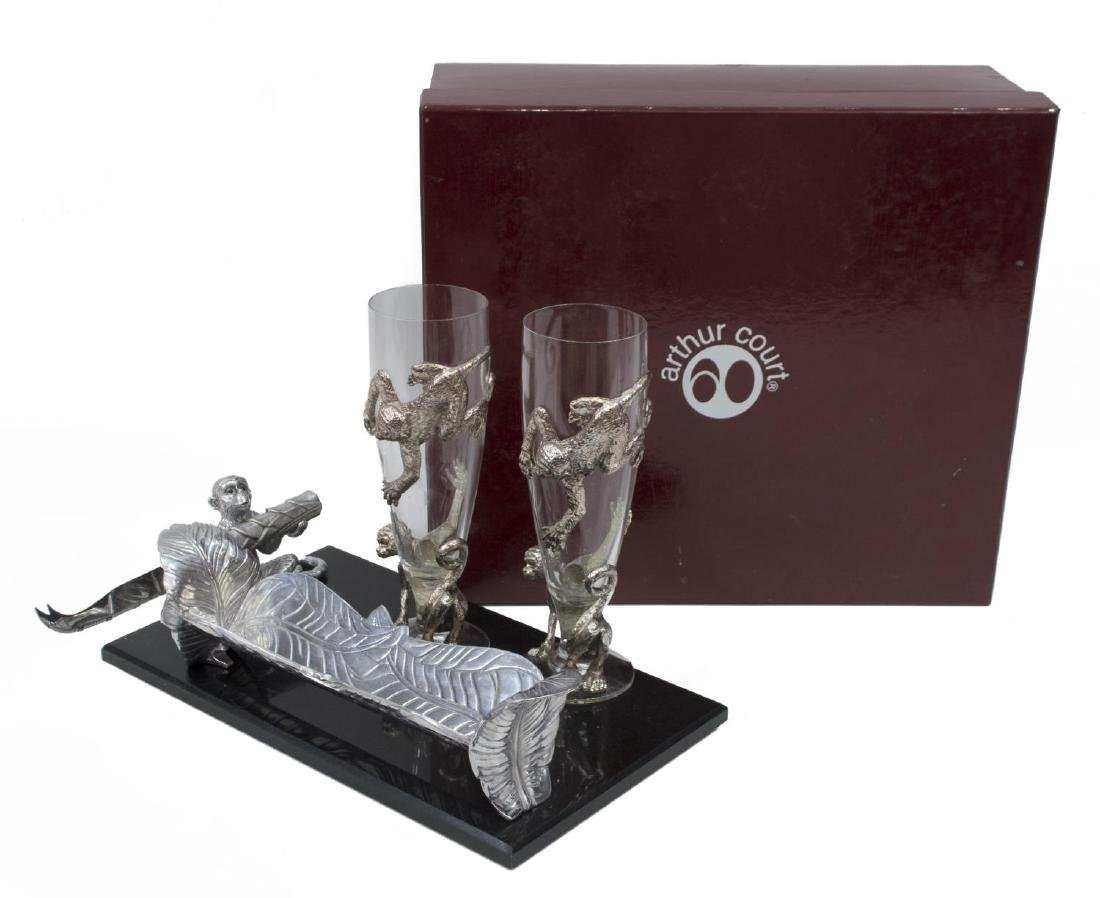 (5) ARTHUR COURT DESIGNS GLASSES & CHEESEPLATE