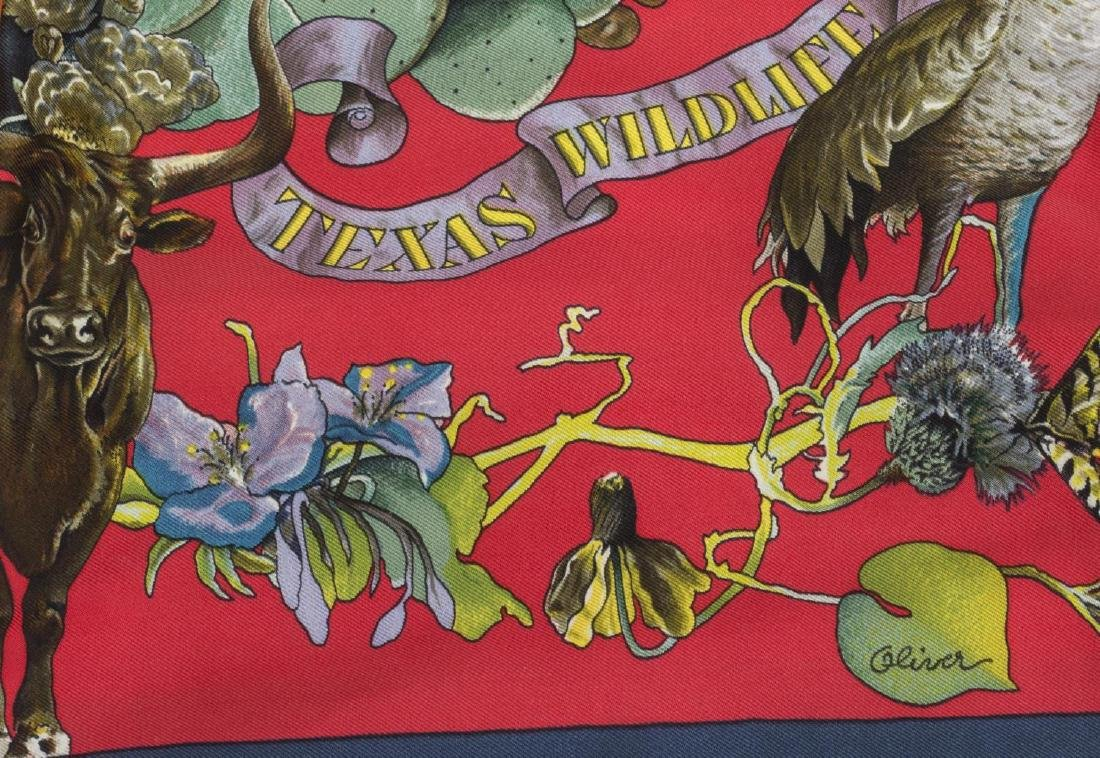 HERMES 'TEXAS WILDLIFE' SILK SCARF KERMIT OLIVER - 2