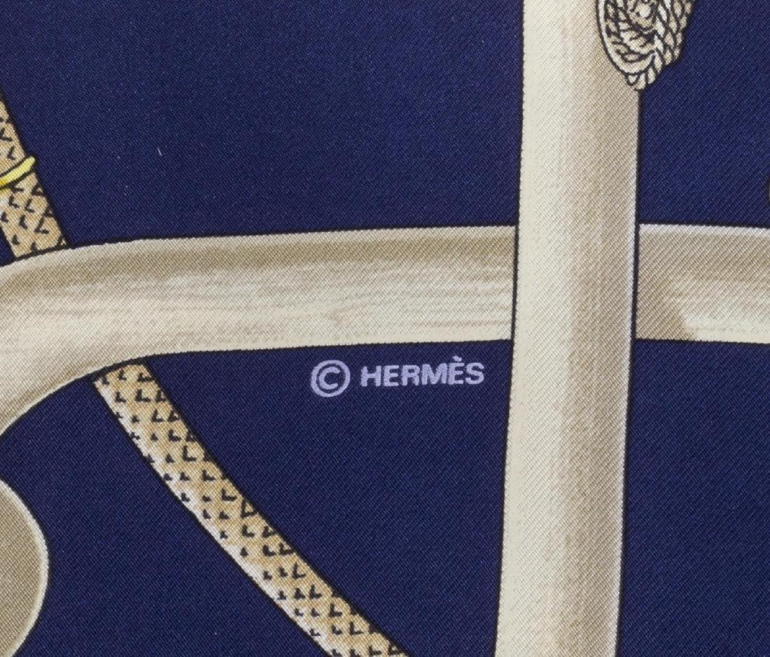 HERMES 'CANNES DE POMMEAUX' SILK SCARF PERRIERE - 2
