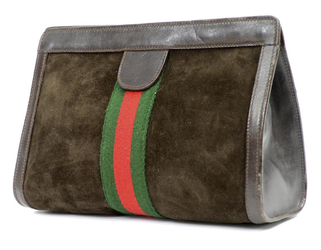 GUCCI 'ACCESSORY' SUEDE COSMETIC BAG OR CLUTCH