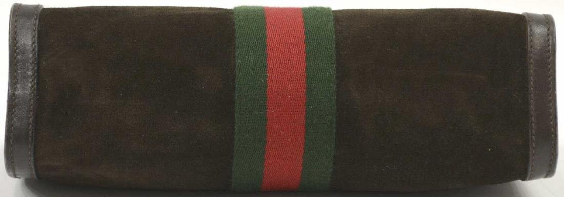 GUCCI 'ACCESSORY' SUEDE COSMETIC BAG OR CLUTCH - 4