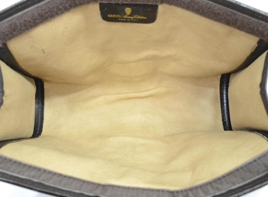 GUCCI 'ACCESSORY' SUEDE COSMETIC BAG OR CLUTCH - 5