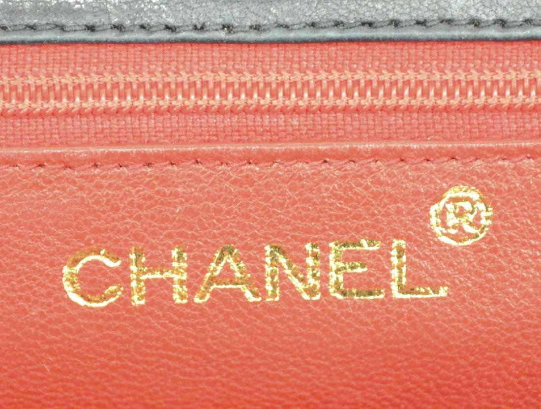 CHANEL QUILTED BLACK SATIN EVENING BAG - 6