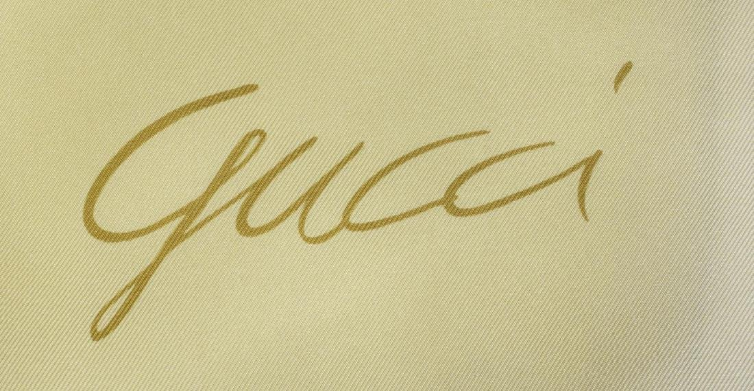 (4) DESIGNER SILK SCARVES, GUCCI GRES, FERRAGAMO - 8