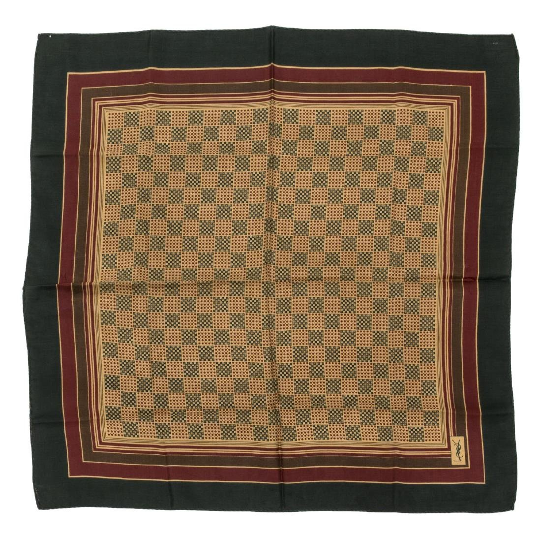 (6) GENTS COTTON AND SILK SCARVES POCKET SQUARES - 2