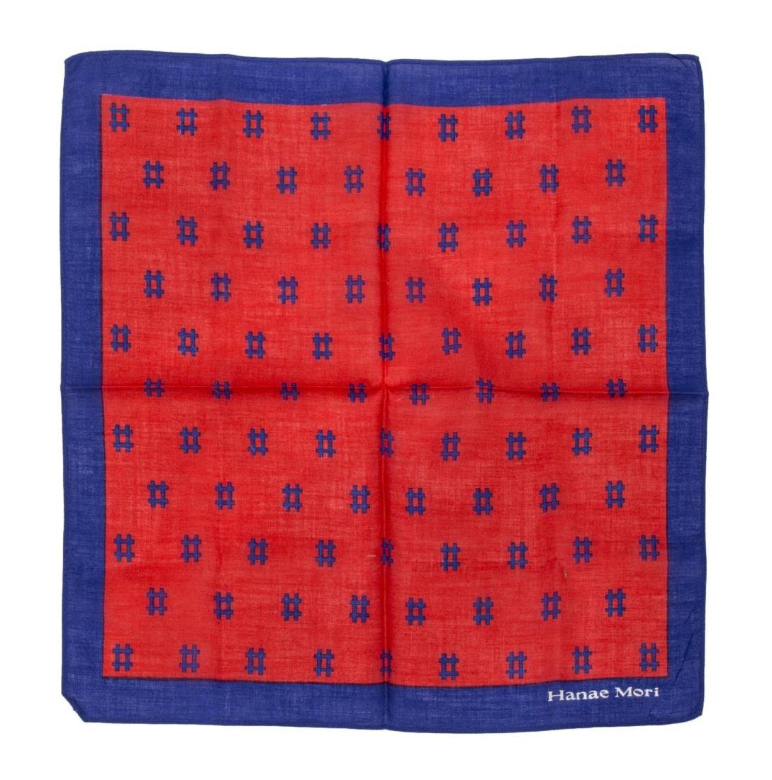 (6) GENTS COTTON AND SILK SCARVES POCKET SQUARES - 5