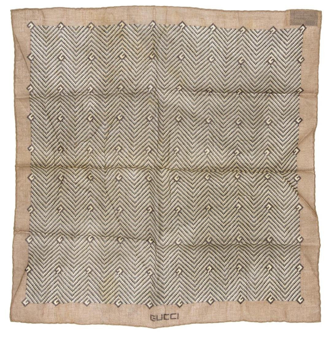(6) GENTS COTTON AND SILK SCARVES POCKET SQUARES - 6