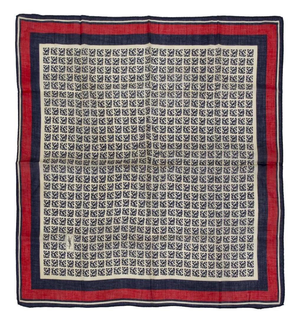 (6) GENTS COTTON AND SILK SCARVES POCKET SQUARES - 7