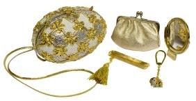 (2) Judith Leiber Egg Hand Bag & Elephant Fob