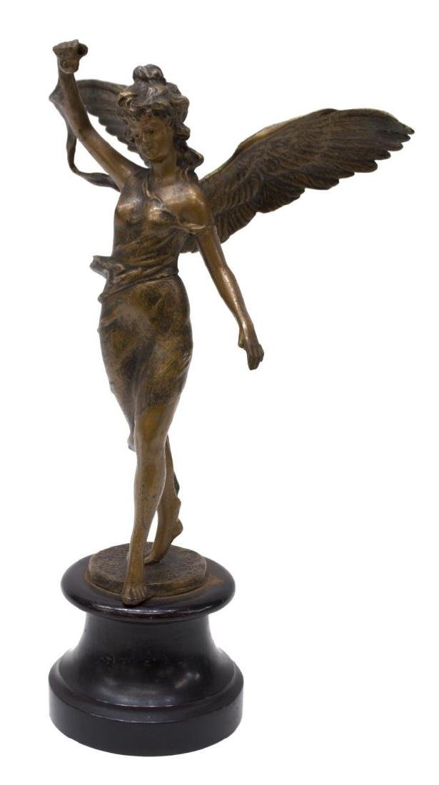 CONTINENTAL METAL FIGURAL SCULPTURE OF ANGEL