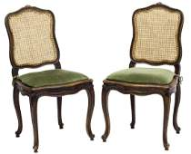 (2) FRENCH LOUIS XV STYLE CANED SIDECHAIRS, 20TH C