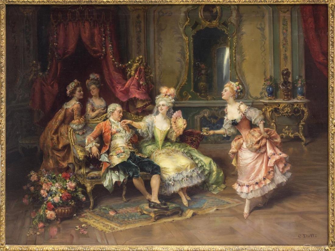 CESARE AUG. DETTI (1847-1914) LOUIS XV THRONE ROOM